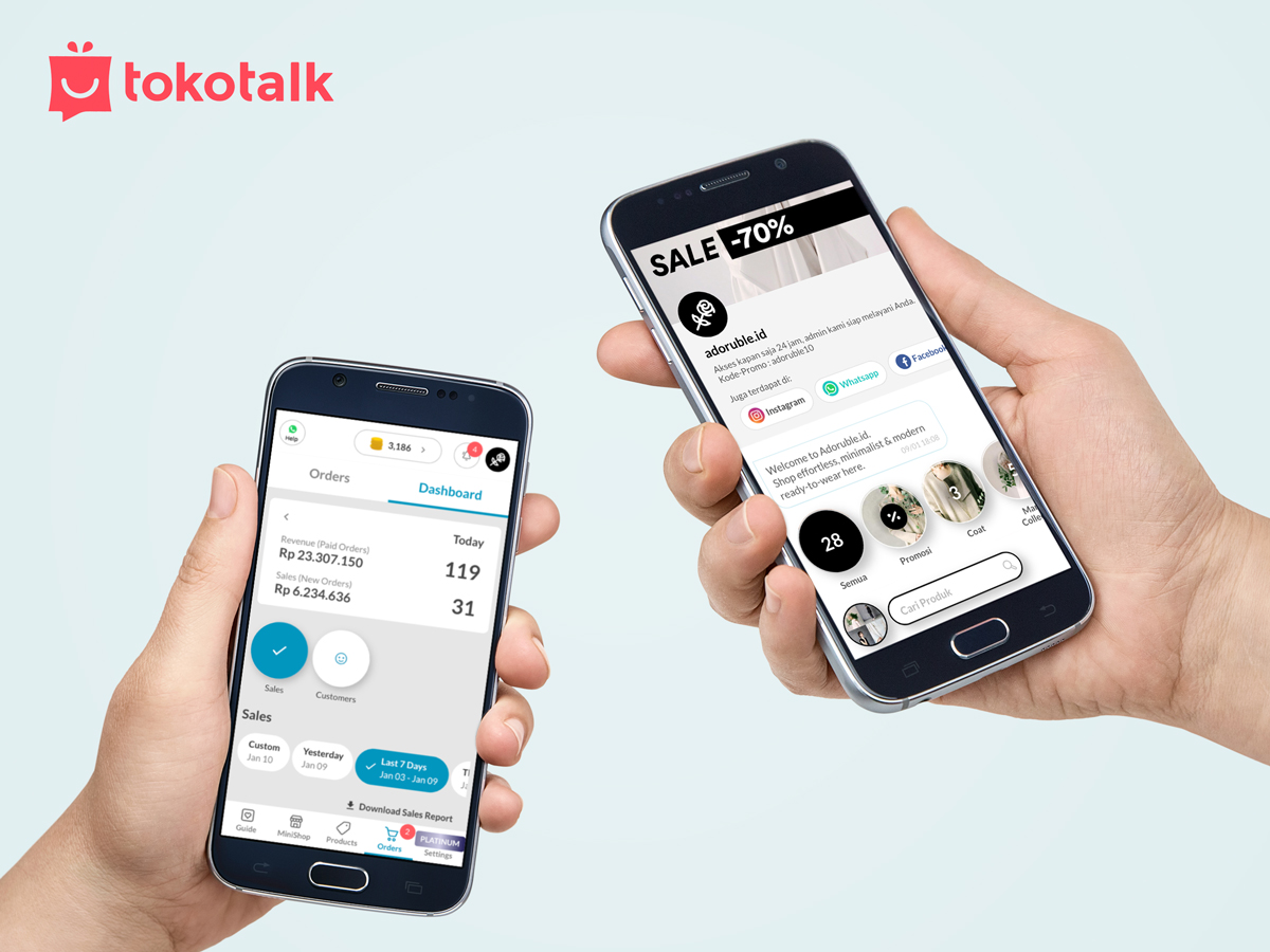 startup businesses online selling digital tokotalk