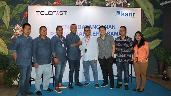 Startup Telefast and Karir.com Signed Cooperation Agreement on HR Solutions