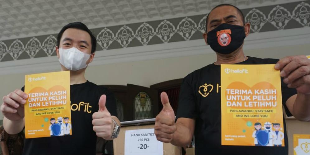 Hellofit Distributes Aid to Sardjito Hospital in Yogyakarta