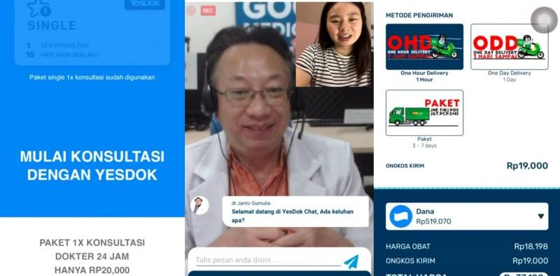 DANA is collaborating with the YesDok healthcare startup. Through this partnership, DANA provides online consultation services in the application, competing with Gojek and Grab.
