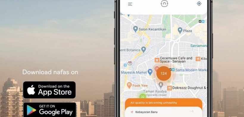 Nafas Application Ready to Monitor Air Quality in Jakarta