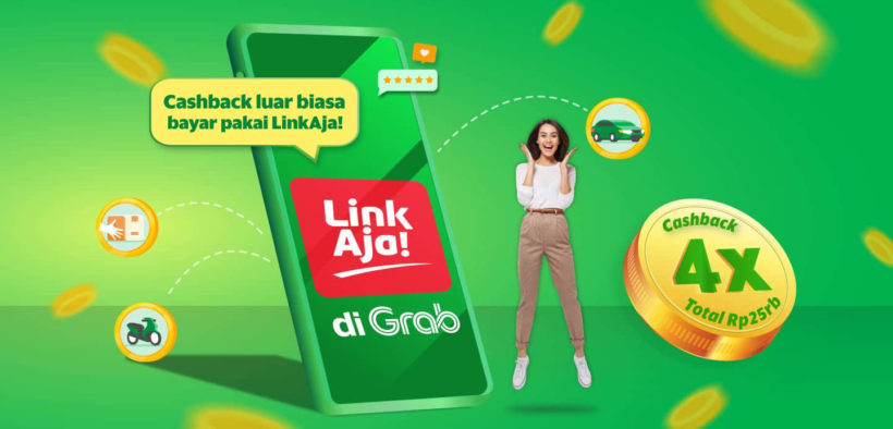 LinkAja Becomes a Payment Option at GrabFood