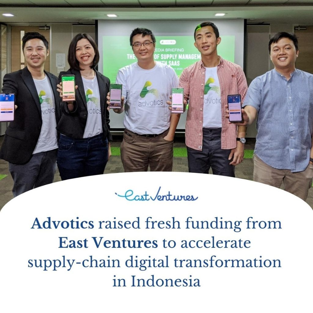 Advotics Supply Chain Startup Receives Investment from East Ventures