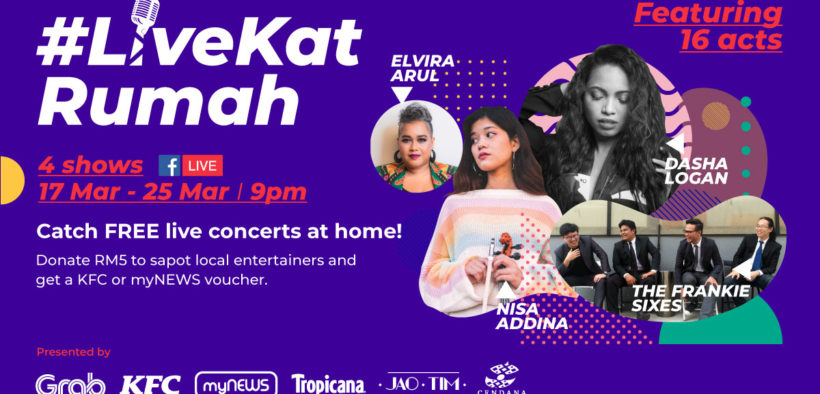 CENDANA joins forces with Grab for #LiveKatRumah initiative to support over 80 local artistes and show crew affected by the pandemic