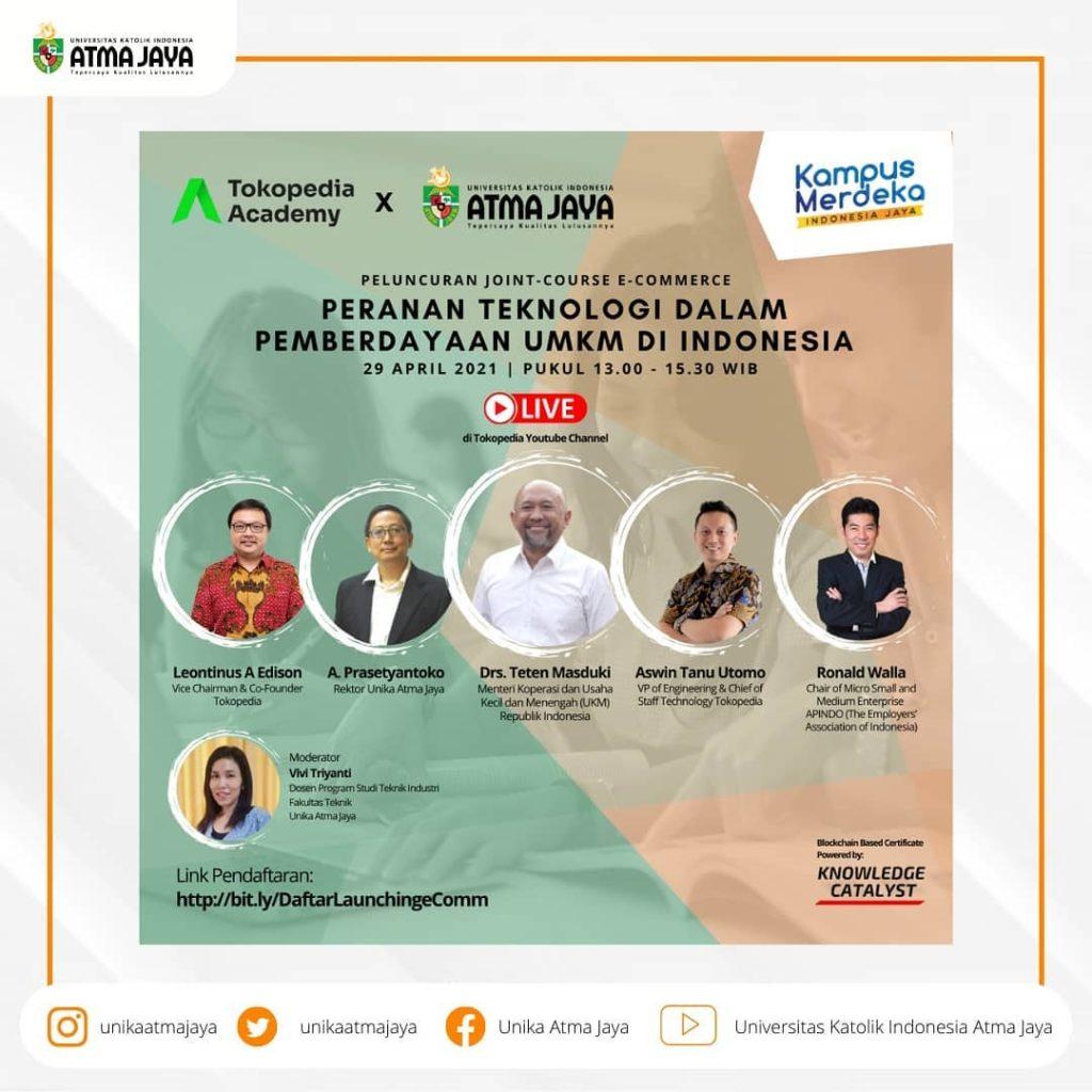 Tokopedia Collaborates with UNIKA Atma Jaya to Create Courses