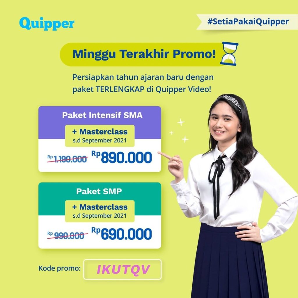 Quipper Solutions to Help Face the Potential of Learning Loss in Indonesia