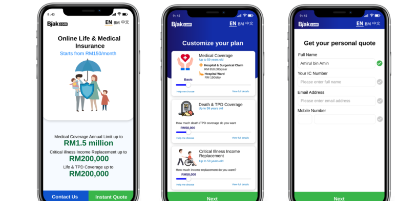 BJAK INTRODUCES THE FIRST CUSTOMIZABLE LIFE AND HEALTH INSURANCE ONLINE