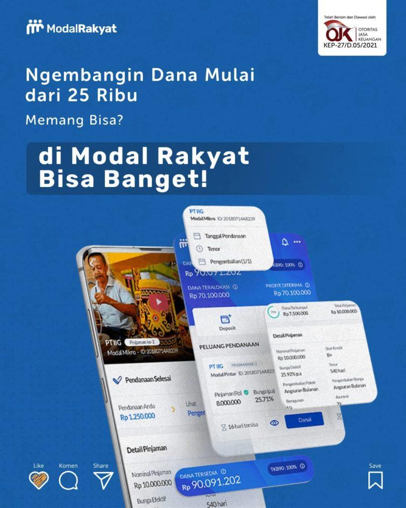 Modal Rakyat Has Managed to Disburse IDR 2 Trillion in Funding